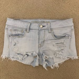 American Eagle Light Wash Stretchy Jean Shorts